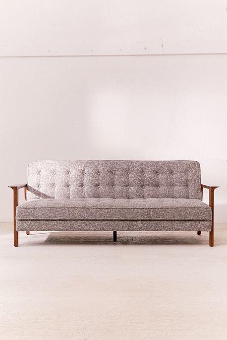 Keller Convertible Sleeper Sofa | Office | Sleeper sofa, Wood sofa, Sofa