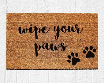 Wipe Your Paws Doormat Welcome Mat Door Mat Outdoor Rug Coir Mat Funny Doormat Dog Gift 18x30 Urban Owl Door Mat Welcome Mats Door Mat Diy