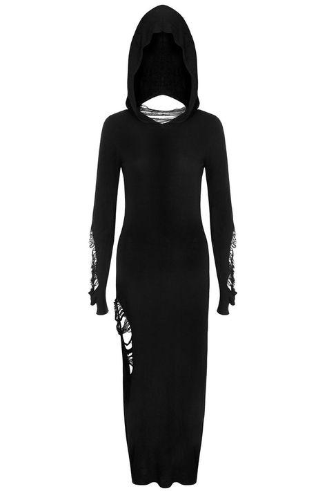 Nu-War Hood Maxi Dress [B]