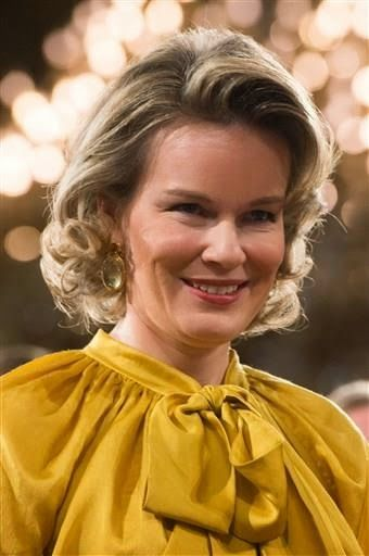 Queen Mathilde hosted a new year's reception at the Royal Palace in Brussels