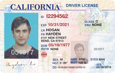 California Drivers License Template Psd New 2020 Drivers License Drivers License California Ca Drivers License