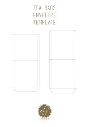 Tea bags envelope template_cfg