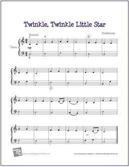 Twinkle Twinkle Little Star Easy Piano Sheet Music Piano