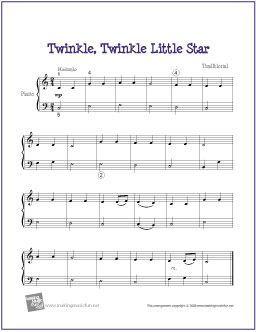 Twinkle Twinkle Little Star Easy Piano Sheet Music Piano