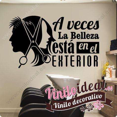 vinilo decorativo para peluquería y estética. decora de forma original y rápida tu negocio.