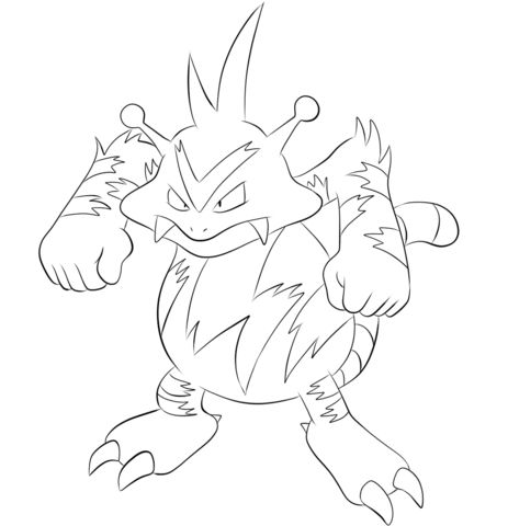 Electabuzz Coloring Page Free Printable Coloring Pages Pokemon Coloring Pages Pokemon Coloring Sheets Pokemon Coloring