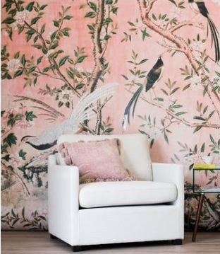Chinoiserie Removable Wallpaper Removable Wallpaper Floral Wallpaper Bedroom Chinoiserie Wallpaper