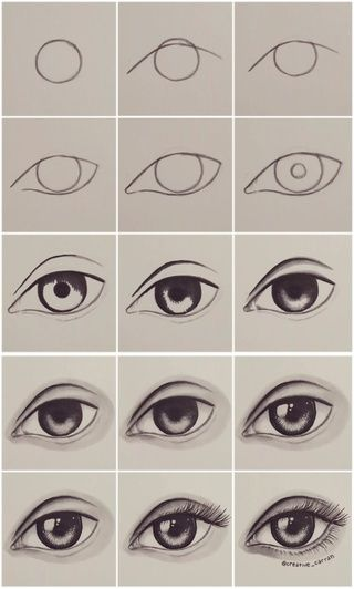 Newest For Drawing Ideas Step By Step Eyes