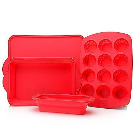 Cook S Companion 4 Piece Collapsible Silicone Bakeware Set On