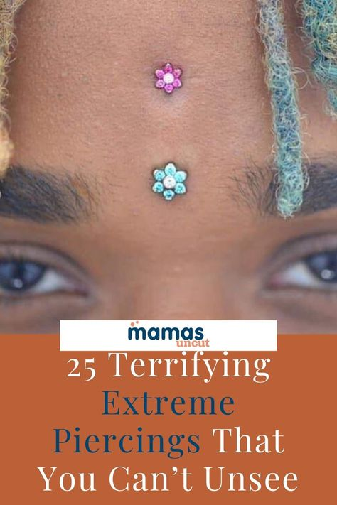 We found 25 extreme piercings that touch every part of the body. You're not going to forget these surprising, and at times, terrifying piercings. #Piercings #Labret #BodyPiercings