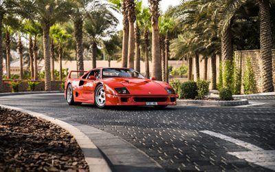 Telecharger Fonds D Ecran Ferrari F40 Sportcars Rouge F40 Italien Voitures La Route Les Supercars Ferrari Besthqwallpapers Com Ferrari F40 Supercars Ferrari