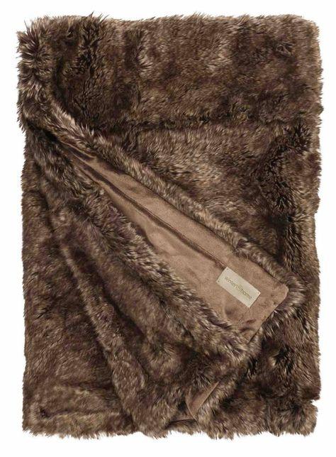 Plaid Van Echt Bont.Winter Home Bontplaid Brown Bear In 3 Verschillende Maten