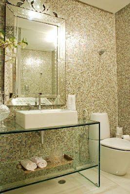 Decoracao De Banheiros Com Imagens Bancadas De Vidro