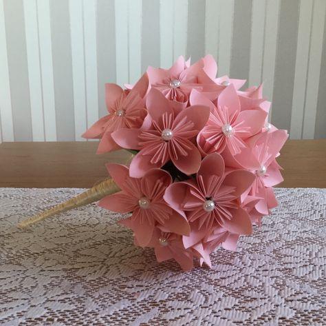 35 Euro Brautstrauss Origami Papier Rosen In Sisal Tüte