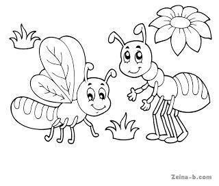 صورة نحلة جميلة للتلوين In 2021 Drawings Art Color