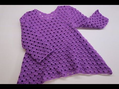 Blusa Crochet Para Niña De 3 A 4 Años Parte 1 De 2 Youtube