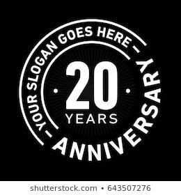 20周年記念のロゴテンプレート ベクター画像とイラスト のベクター画像素材 ロイヤリティフリー 633353597 ロゴテンプレート 記念ロゴ ロゴ