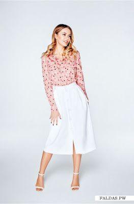 b5a6e01b0 Faldas Blancas   F   Blouse, skirt, Fashion y Dresses