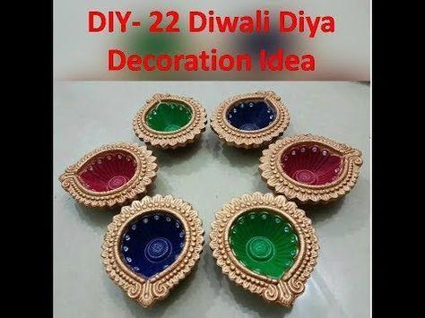 Diy Diwali Diya Decoration Ideas Kunal S Design 1 Youtube