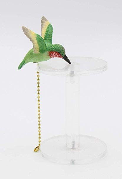 Porcelain Hummingbird Fan Pull Ornament