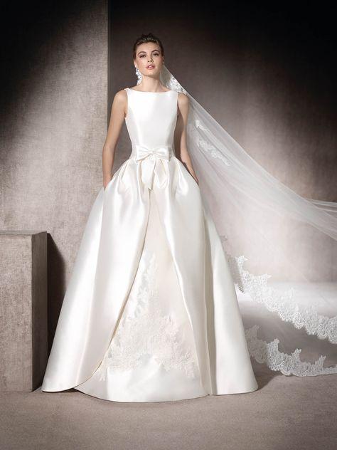 """st. patrick l """"mauritia"""" l mermaid wedding dress in mikado, with"""