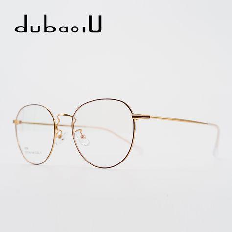 e8bf66771 Metal Women Round Glasses Frame Fashion Clear Transparent Optica l Grade  Ladies Vintage Retro Eyeglasses For Women #9259