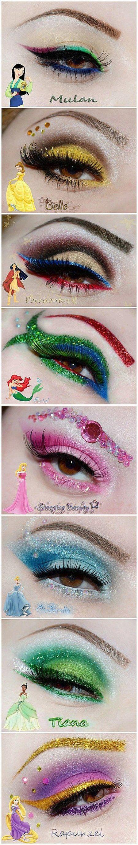 Disney princess eyes make up. Make up ideas for me and my bridesmaids to wear to my future wedding at Disneyland. Makeup Fx, Bad Makeup, Crazy Makeup, Cute Makeup, Worst Makeup, Clown Makeup, Prom Makeup, Makeup Geek, Eyeshadow Makeup