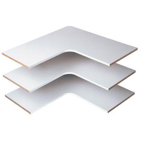 Home White Corner Shelf Corner Shelves Easy Track Closet