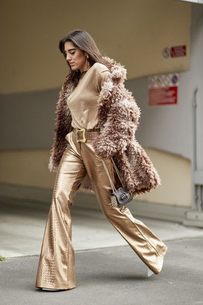 Textured Metallics - Milan Fashion Week's Most Fabulous Street Style, Fall 2018 - Photos