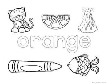 Learning About Colors Coloring Pages Preschool Color