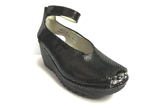 b0918437f8b6 Bernie Mev Women s Mely Black Snake Print Leather Wedges EUR 39 -- Details  can be found by clicking on the image.  womenshoe