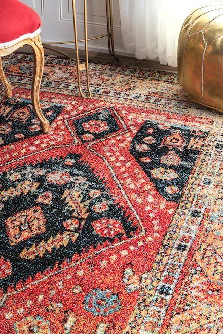 Fervour Vintage Floral Indoor Outdoor Multi Rug Rugs Usa Rugs Vintage Floral