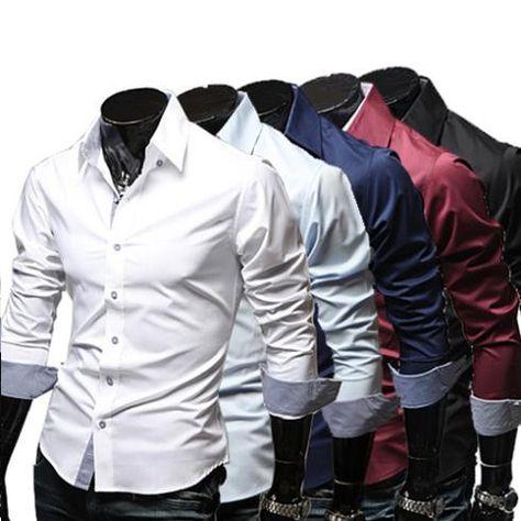 341b108b7cef9 Spring Fashion Casual Slim Dress Shirts – eDealRetail