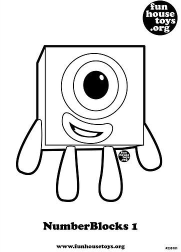 Numberblocks 1 Printable Coloring Page J Coloring Sheets For Kids Printable Coloring Coloring For Kids