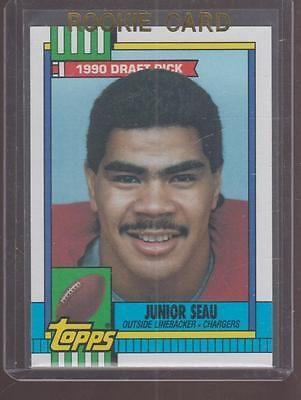 1990 Junior Seau Topps 1990 Draft Pick Rookie Card 381 San