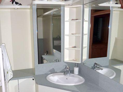 9 best Badezimmer Möbel images on Pinterest One piece - weißes badezimmer verschönern