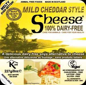 Melty Mild Cheddar Style Sheese Non Dairy Dairy Free Vegan Cheese Bute Island Foods Vegan Cheese Cheese Alternatives Vegan Cheese Substitute