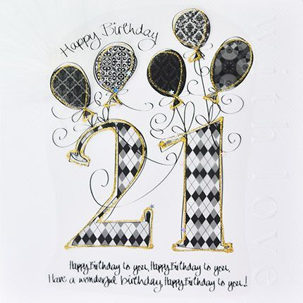 21st Birthday Cards Luxury Boxed 21st Birthday Card Happy Birthday To You Monochrome 21st Card For Son Grandson Brother 21st Birthday Cards Happy 21st Birthday Cards Birthday Cards For Son