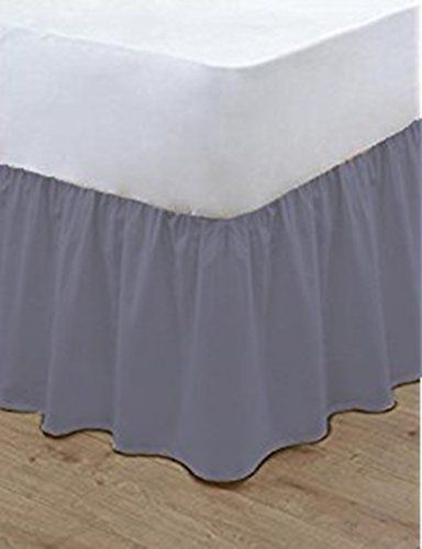 """Plain Fitted Valance Sheet Extra Deep Frill 40cm 16/"""" Single 4Ft Double King Size"""