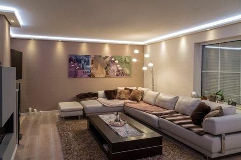 Stuckleisten, Lichtprofil für indirekte LED Beleuchtung von Wand und ...