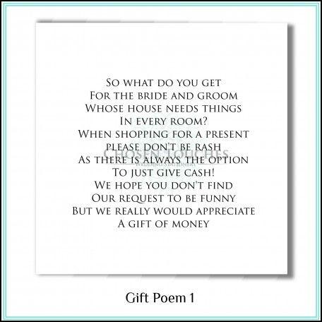 Wedding Invite Money Poem Ideas Pinterest And