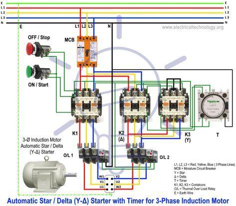 10 Electric Motor Star Delta Wiring Diagramelectric Motor Star Delta Wiring Diagram Wiring In 2020 Electrical Circuit Diagram Basic Electrical Wiring Circuit Diagram