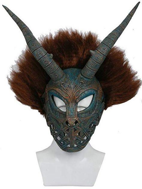 Wendigo Mask Deadnight Variant Death Mask  Animal Mask Resin Halloween Half Mask Horror