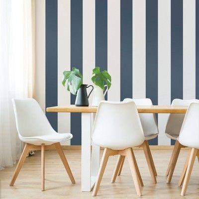Devine Color Mini Stripe Compass Wallpaper Dark Blue White Striped Wallpaper Black Striped Wallpaper Compass Wallpaper