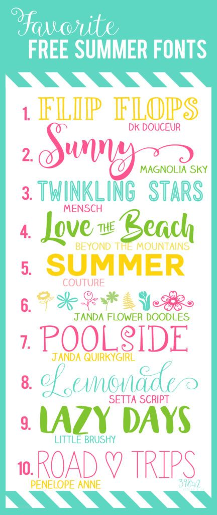 A Few Favorite Free For Personal Use Summer Fonts This Weekend We Are Planning Our Road Trip To The The Beach Can T Wait Summer Font Beach Fonts Lettering
