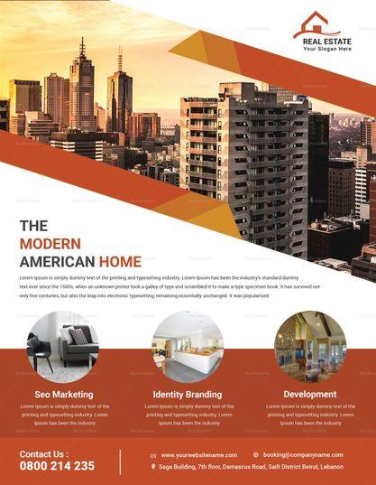 Real Estate Sale Flyer Template Sale Flyer Real Estate Banner Real Estates Design