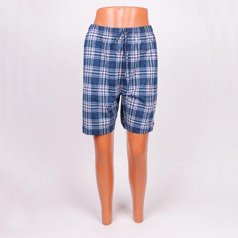 13bdac227ce Мъжки къси панталонки за сън, изработени от фин и мек памук, в карирани  цветове