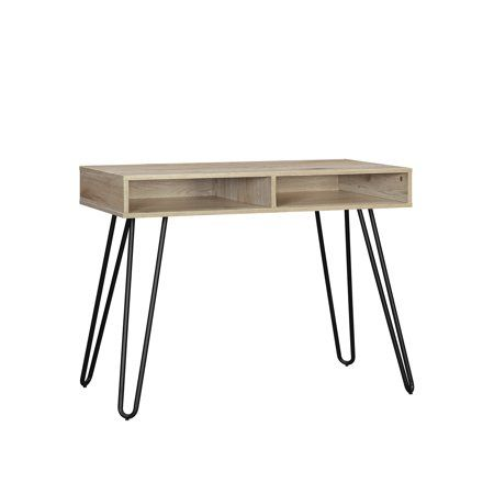 Mainstays Hairpin Writing Desk Multiple Finishes Walmart Com In 2020 Writing Desk Desk Chair Style