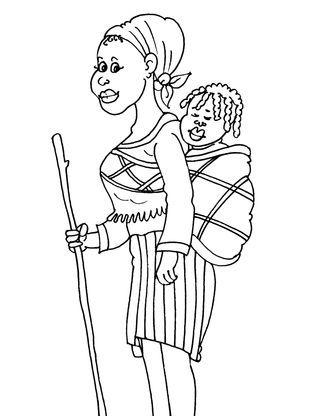 Africains 20 Des Projets D Art Africain Coloriage Comptine Africaine