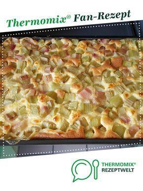 Rhabarber Vanille Kuchen Vom Blech Rezept Rhabarberkuchen Rezept Thermomix Rezepte Kuchen Rezepte